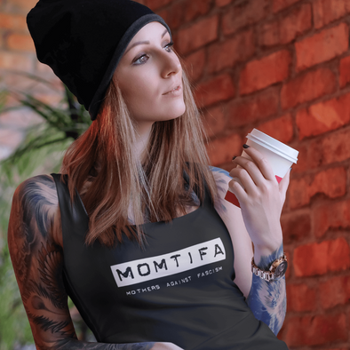 Revolution Art Shop Momtifa – Mother's Against Fascism Racerback Tank Racerback Tank