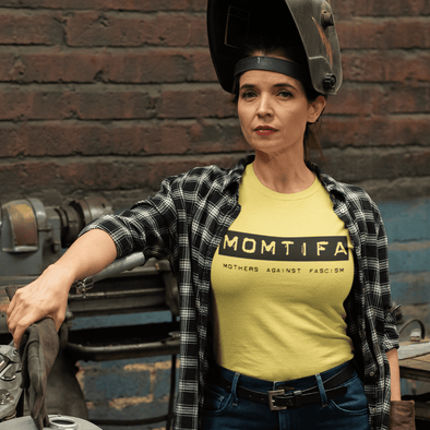 Revolution Art Shop Momtifa – Mothers Against Fascism in Yellow!  Unisex T-Shirt Unisex Tee