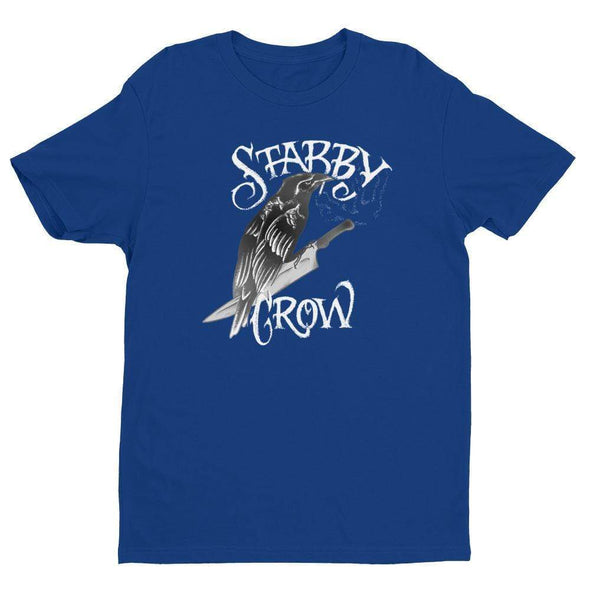 Trash Panda Chic Stabby Crow Men's Fitted Tee Men's Tees Royal Blue / XS