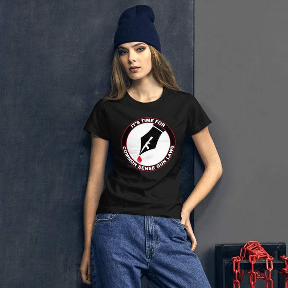Revolution Art Shop The Pen Is Mightier Than The Gun Women's Tee Women's Tee Black / S