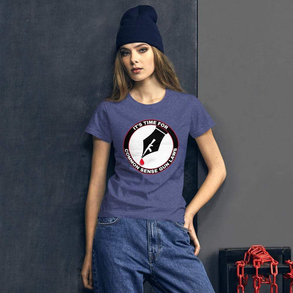 Revolution Art Shop The Pen Is Mightier Than The Gun Women's Tee Women's Tee Heather Blue / S