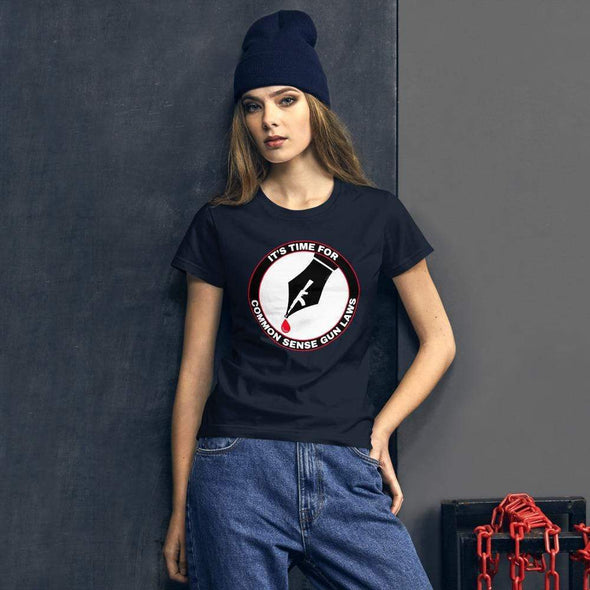 Revolution Art Shop The Pen Is Mightier Than The Gun Women's Tee Women's Tee Navy / S