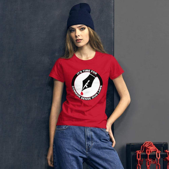 Revolution Art Shop The Pen Is Mightier Than The Gun Women's Tee Women's Tee Red / S