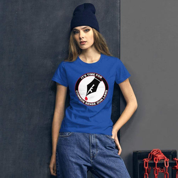 Revolution Art Shop The Pen Is Mightier Than The Gun Women's Tee Women's Tee Royal Blue / S