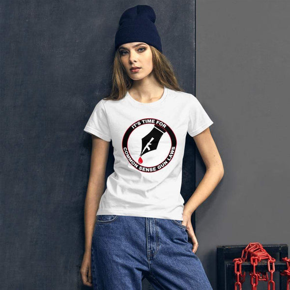 Revolution Art Shop The Pen Is Mightier Than The Gun Women's Tee Women's Tee White / S
