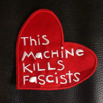 Revolution Art Shop This Machine Kills Fascists Heart Sew-On Patch Patches
