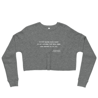 Revolution Art Shop To My Sisters Haiku Crop Sweatshirt Sweatshirt Deep Heather / S