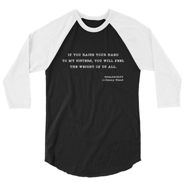 Revolution Art Shop To My Sisters Haiku Raglan Raglan Black/White / XS