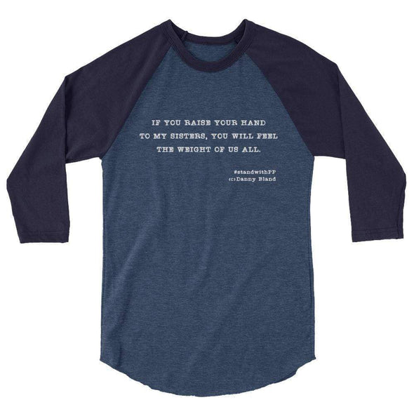 Revolution Art Shop To My Sisters Haiku Raglan Raglan Heather Denim/Navy / XS