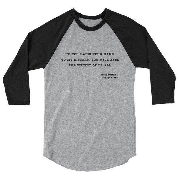 Revolution Art Shop To My Sisters Haiku Raglan Raglan Heather Grey/Black / XS