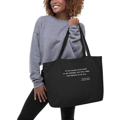 Revolution Art Shop To My Sisters Organic Tote Black