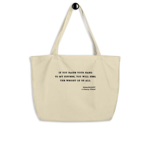 Revolution Art Shop To My Sisters Organic Tote Oyster