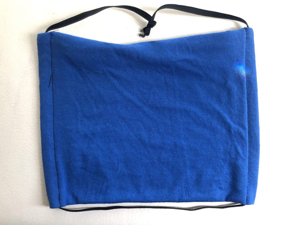 Trash Panda Chic Solid Color 100% Jersey Cotton Face Mask Face Mask Royal Blue