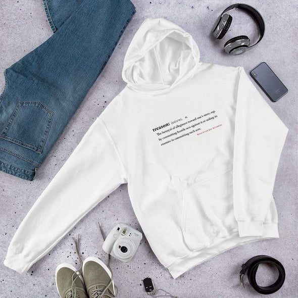 Revolution Art Shop Treason Unisex Hoodie Hoodie White / S