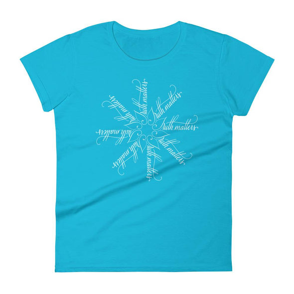 Revolution Art Shop Truth Matters | The Snowflake Collection | Women's t-shirt Caribbean Blue / S