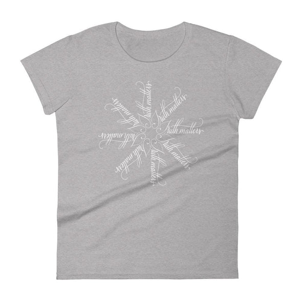 Revolution Art Shop Truth Matters | The Snowflake Collection | Women's t-shirt Heather Grey / S