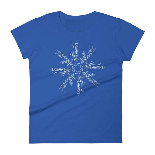 Revolution Art Shop Truth Matters | The Snowflake Collection | Women's t-shirt Royal Blue / S
