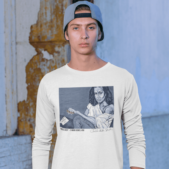 Charles Baker Strahan Vote 2020  | The F Word by Charles Baker Strahan Long Sleeve Fitted Crew Long Sleeve Tee