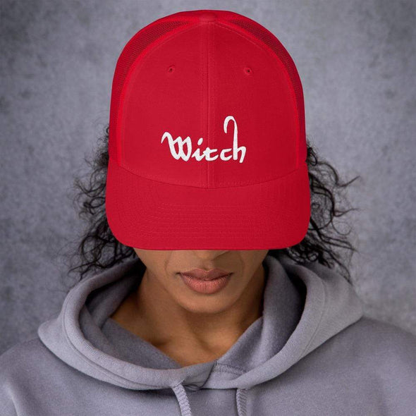 Trash Panda Chic Witch Retro Trucker Hat Trucker Cap Red