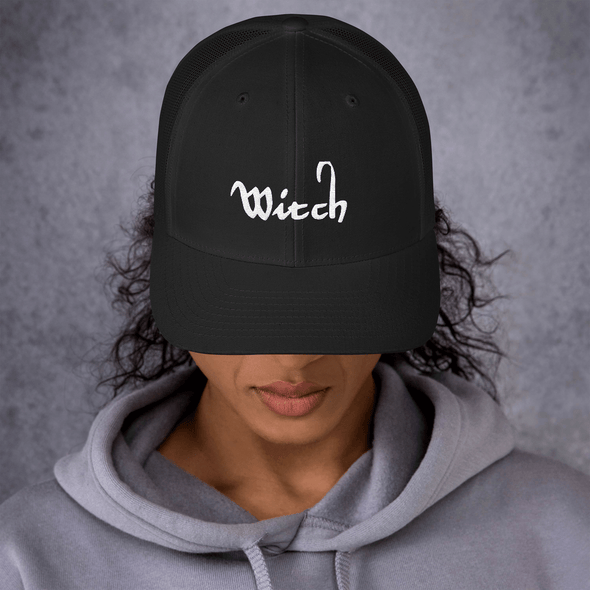 Trash Panda Chic Witch Retro Trucker Hat Trucker Cap