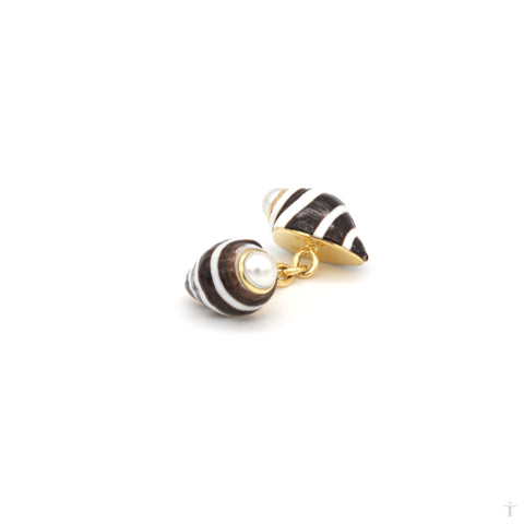 Engina Shell Cufflinks & Stud Set
