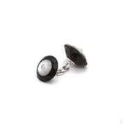 Black Onyx & Mother-of-Pearl Cufflinks & Stud Set