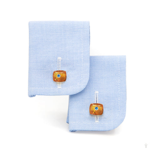 Amber Cushion Cufflinks