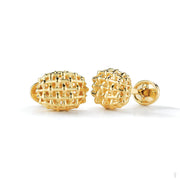 Nantucket Lightship Woven Gold Cufflinks