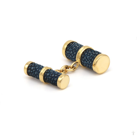 Navy Stingray Cufflinks