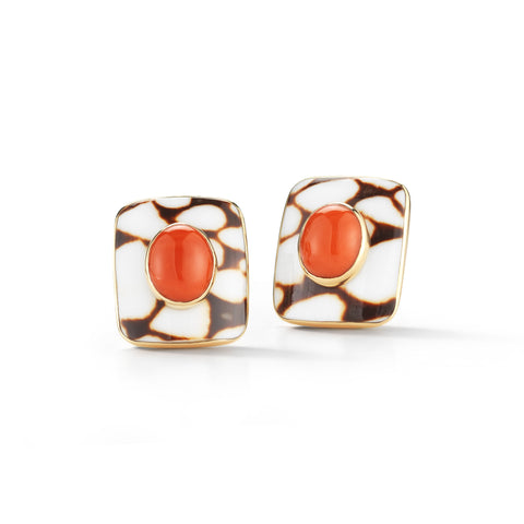 Marble Cone Earrings