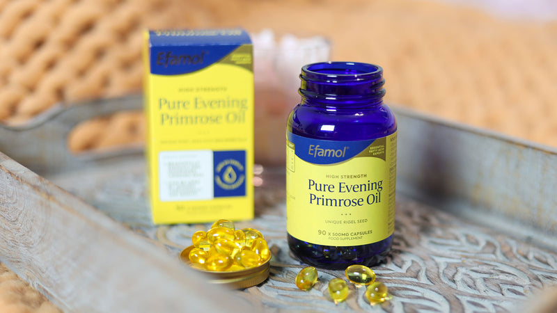 Try Efamol® Pure Evening Primrose Oil for smoother, softer skin