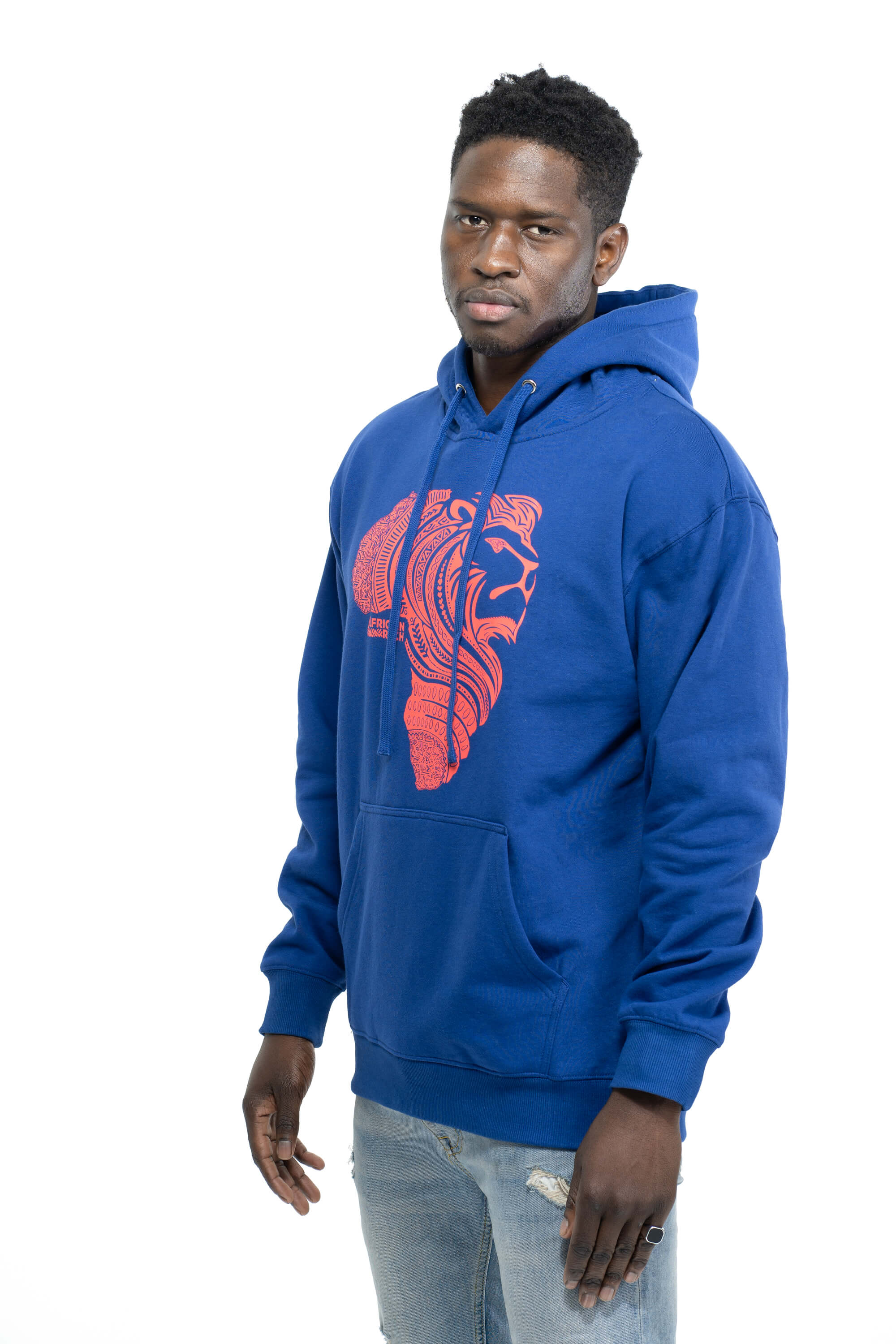 Royal Blue Hooded Sweatshirt