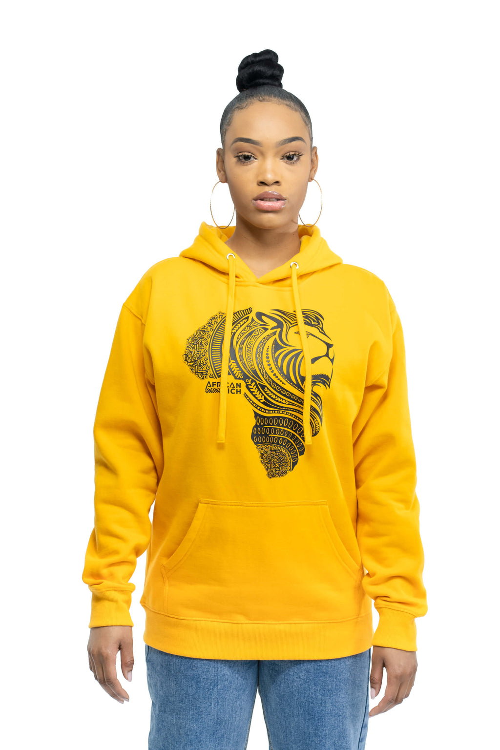 Gold Loopback Hooded Sweatshirt