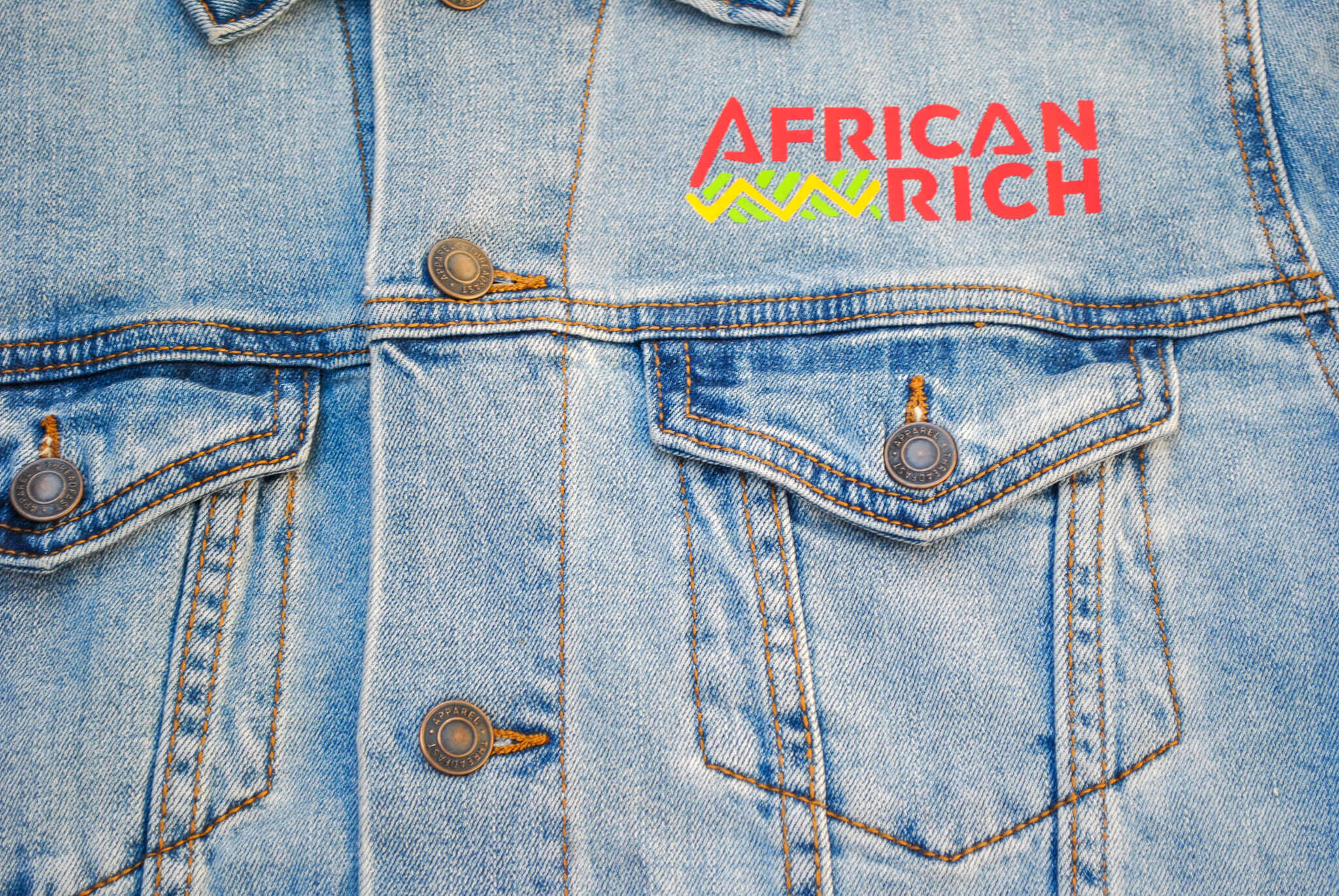 AfricanRich Signature Cotton Denim Jacket