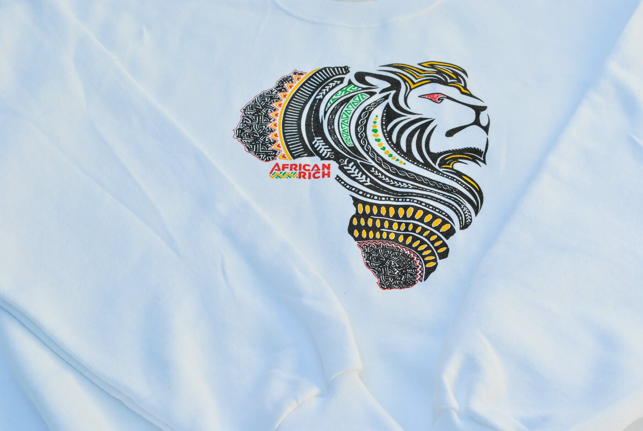 AfricanRich 4 Color Logo Crewneck Sweater