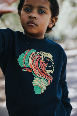 Unisex AfricanRich 3 Color Kid Crewneck Sweater