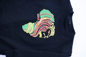 AfricanRich Signature 3 Color Crewneck Sweater