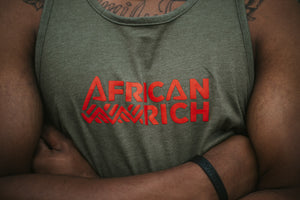 AfricanRich Signature Text Logo Tank Top