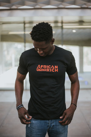 AfricanRich Classic Text Logo Crewneck Tee
