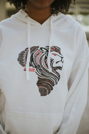 AfricanRich Dual Color Lion Head Hoodie