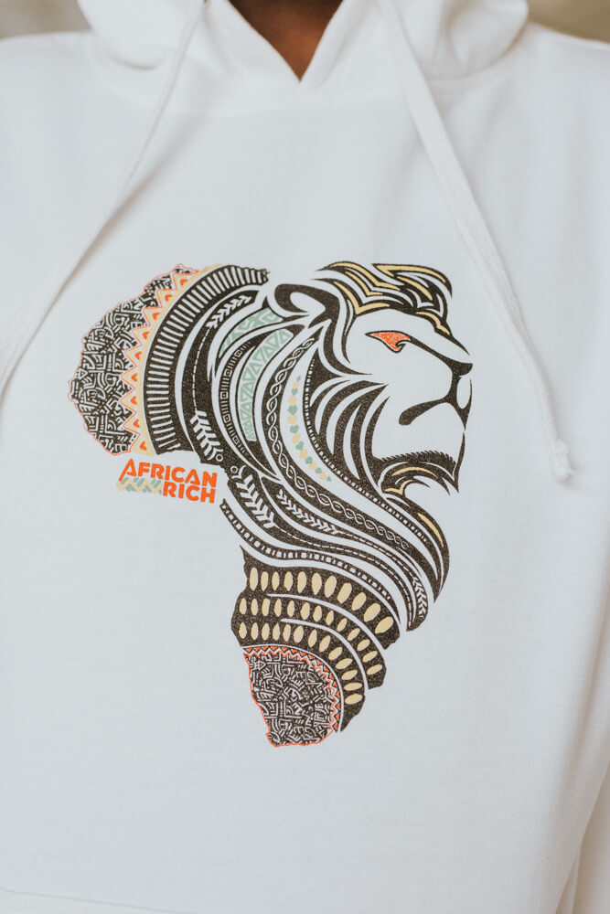 AfricanRich Four Color Lion Logo Hoodie