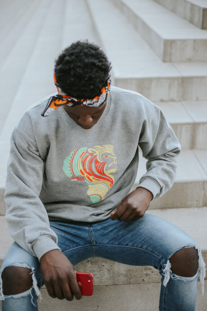 AfricanRich 3 Color Crewneck Cotton Sweater