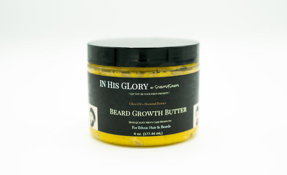 Olive Oil & Horsetail Extract: Beard Growth Butter