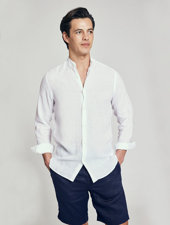 Linen Nero Collar Shirt
