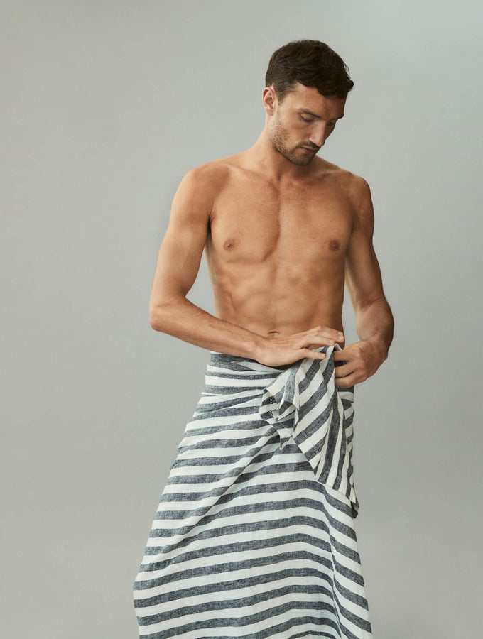 Stripe Linen Beach Towel