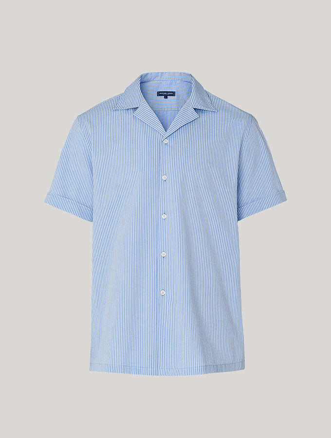 Thomas Camp Collar Seersucker Shirt