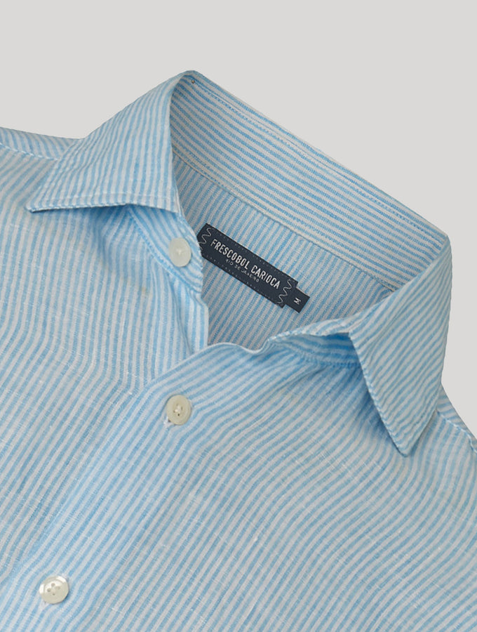 Striped Antonio Linen Shirt