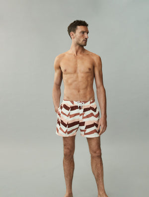Distillation Print Sport Swim Shorts