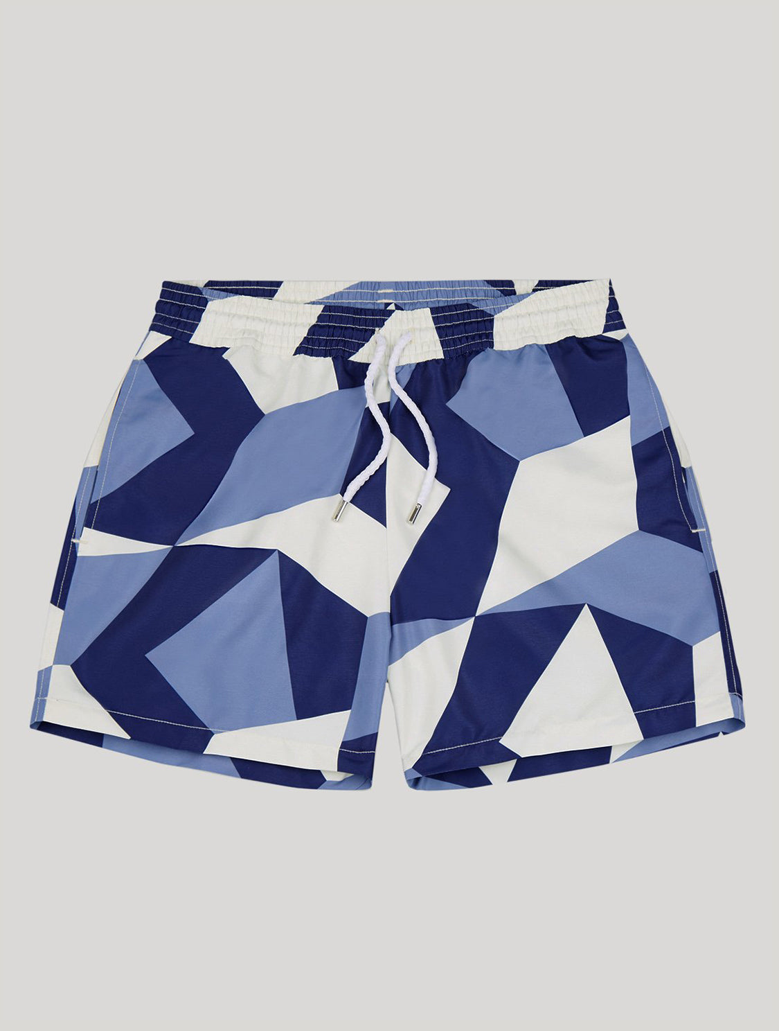 Modernist Print Sport Swim Shorts