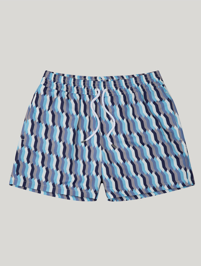 SPORT SWIM SHORTS MOSAIQUE PRINT
